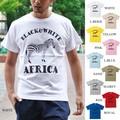 "【DEEDOPE 】""BLACK & WHITE AFRICA"" 半袖 プリント Tシャツ シマウマ ZEBRA アフリカ"