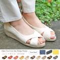 【赤字覚悟!!大放出SALE】◆オープントゥクロスジュートパンプス/サンダル/靴/雑貨◆419675
