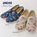 DICAS ディカス 花柄 スリッポン メンズ 総柄 スニーカー スペイン製