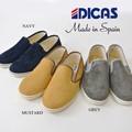 DICAS ディカス パンチングスウェード スリッポン メンズ スニーカー スペイン製