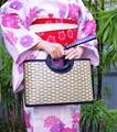 <2色>夏物ファッション竹製カゴバッグ☆軽くて丈夫!浴衣や和装に