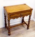 ウッド製【木製 コンソールテーブル】飾り置き台 ウッドテーブル 受付台 ボビンターニングレッグ 木目