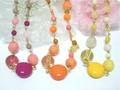 【売り切り】春夏ビビッドカラーのアクリルデザインネックレス・3カラー