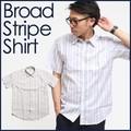 ブロードストライプシャツ
