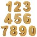 ナチュラルでやさしい質感の紙素材オブジェ!【ペーパーマッシュ(ナンバー)】10種チョイス♪
