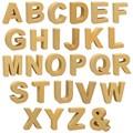 ナチュラルでやさしい質感の紙素材オブジェ!【ペーパーマッシュ(アルファベット)】27種チョイス♪