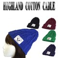 HIGHLAND COTTON CABLE KNITWATCH W/PATCH  13458
