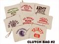 ★緊急値下げ★シンプルなスクールデザインクラッチバッグ!【OLD SCHOOL CLUTCH BAG #2】