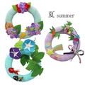 季節の12ヶ月リース(スタンド付き) 6・7・8月<日本製>【京都 和雑貨 和小物 かわいい インテリア】