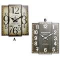 アンティークデザインの壁掛け時計に新デザイン★【スクエアウォールクロック2】2色チョイス♪