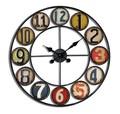 アンティークデザインの壁掛け時計に新デザイン★【ウォールクロックラウンドプレート】