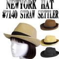 ★春夏♪ NEWYORK HAT  #7140 STRAW SETTLER  13505