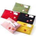 花うさぎ ティッシュケース <日本製>【京都 和雑貨 和小物 かわいい】