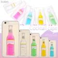 <スマホケース>スマホリムーバー付き! 瓶の形の液体が揺れる♪ iPhone6用カクテルケース