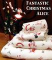 【ファンタスティック クリスマス】4サイズ展開アリス<ゲストタオル フェイスタオル バスタオル>