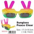 【おもしろ 雑貨 サングラス】Sunglass ピース クリア パーティ イベント 仮装 コスプレ
