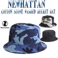 NEWHATTAN  COTTON STONE WASHED BUCKET HATS     12491
