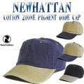 ★4カラー♪NEWHATTAN COTTON 2TONE PIGMENT DYDE CAP  13511