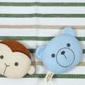 【プクプク おもちゃ】3柄展開おもちゃ<クマ サル ブタ>