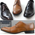 ビジネスシューズ/ストレートチップ/メダリオン/レースアップ/紐靴