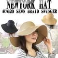 【春夏セール】エレガンスなつば広HAT♪NEWYORK HAT#7020 SEWN BRAID SWINGER