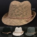 スラブ編み 中折れハット HAT 麦わら帽