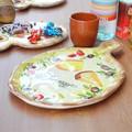 【イタリア製】おつまみ チーズボード 壁掛 絵皿 食器 皿 フォルマッジョ プレート アンティパストプレート