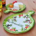 【イタリア製】 チーズボード 壁掛 絵皿 食器 皿 ブルスケッタ イタリアンカラー アンティパストプレート