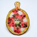 【イタリア製】おつまみ チーズボード 壁掛 絵皿 食器 皿 ピザ柄 Pizza アンティパストプレート