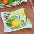 イタリア製 食器 陶器製 レモン柄 デザートボウル 小鉢 LEMON レリーフ 14cm
