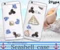<スマホケース>本物の貝殻を付けました♪ iPhone6 Plus/6s Plus用貝殻ケース