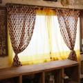 コットンボイルカーテン 110×130cm 全2色 TOPANGA
