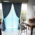 コットンボイルカーテン 110×240cm 全3色  TOPANGA