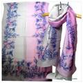【セール】オリジナルデザインインドハンドメイドアーリ刺繍シルクウールストール IN272