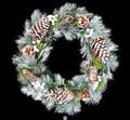 キャンペーン対象!<<クリスマスリース>>★■X'mas/  Wreath-White Needle & Pinecone L (LEDなし)