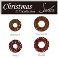 <<クリスマスリース>>★■X'mas/  Tiny Pinecone & Star Wreath