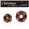 <<クリスマスリース>>★■X'mas/  Wreath-Pinecone Rose