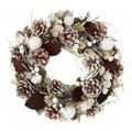 <<クリスマスリース>>★■X'mas/  Wreath-Brown Leaf & White Snow