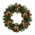 <<クリスマスリース>>★■X'mas/  Twiggy Ring & Pinecone Wreath