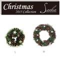 <<クリスマスリース>>★■X'mas/  Needle, Pine & Star Wreath