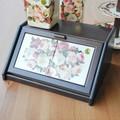 イタリア製 パンボックス キッチン収納 ローズ柄 ポーセラーツ 木製 スパイスラック ルドゥーテのバラ 薔薇