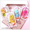 ○sale ネコとお花 ジャックピアス付き ストラップ 4カラー○