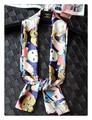 【セール】男女兼用★ふくろう柄ロング細身シルク風スカーフ 05059