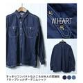 デニムドロップショルダーシャツ W-3901