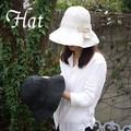 【SALE !!】【UV対策】折り畳みできる帽子!!ギャザー丸ツバクロシェ