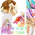 【iPhone6s対応】マーブルスカーフ iPhone6ケース/リング/スカーフ/おしゃれ/レディース/カバー