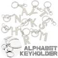 【おしゃれ 雑貨】アルファベット キーホルダー チャーム キーホルダー シルバー イニシャル