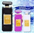 <スマホバッテリー>キラキラ♪ 4000mAhデコ香水型モバイルバッテリー 3色