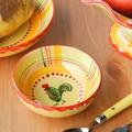 【ポルトガル製】手描き 陶器製 幸せを呼ぶ ニワトリ柄(チキン) 小鉢 サラダボール(13.5cm)