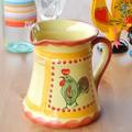 【ポルトガル製】手描き 幸せを呼ぶ ニワトリ柄(チキン)ピッチャー 水差し 陶器製 カラフェ